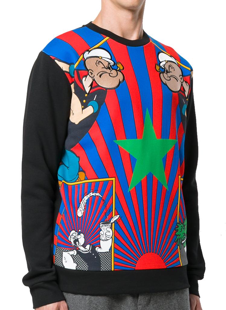 Iceberg Popeye Stripe Print Sweatshirt Moda404 Men S